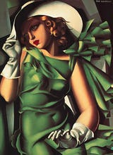 Young Lady with Gloves (Girl in a Green Dress), 1930