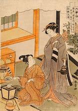 Young lovers preparing tea
