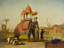 A Caparisoned Elephant - Scene near Delhi (A Scene in the East Indies)