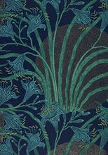 Day Lily wallpaper (Blue), England, 1897