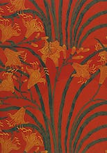 Day Lily wallpaper (Red), England, 1897