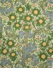 Orchard wallpaper, England, 1899