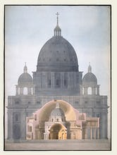 St Peter's Basilica Rome the Pantheon Rome the Radcliffe Library Oxford and the Rotunda Bank of Engl