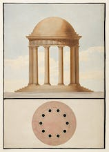 The Doric order: Plan & elevation of a monopteral temple