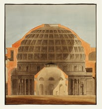 The Pantheon Rome and the Rotunda Bank of England