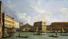 View of the Rialto Bridge from the North