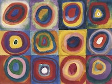 Colour Study. Squares And Concentric Circles