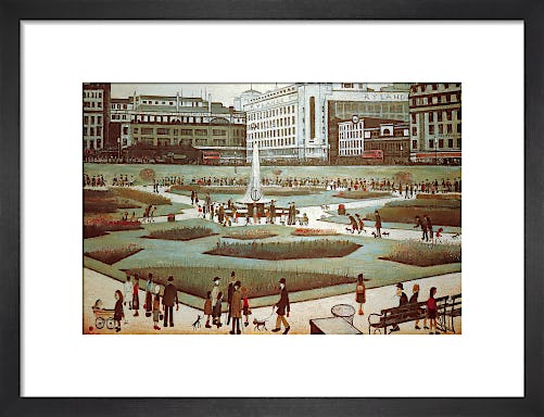 Piccadilly Gardens by L.S. Lowry