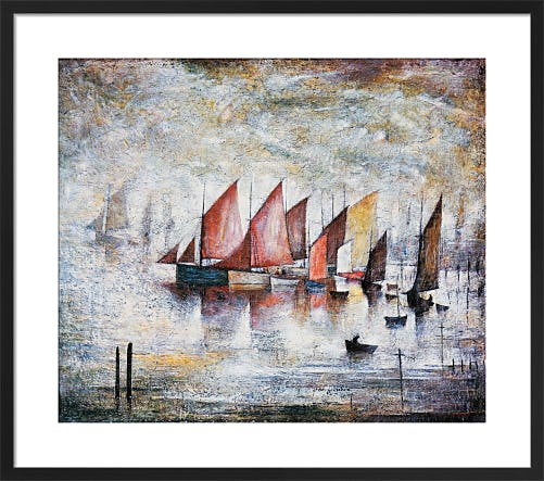 Sailing Boats by L.S. Lowry
