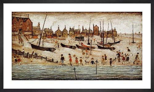 The Beach by L.S. Lowry
