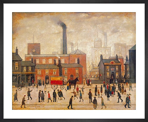 Coming Home from the Mill by L.S. Lowry