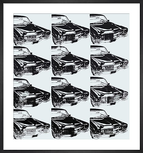 Twelve Cars, 1962 by Andy Warhol