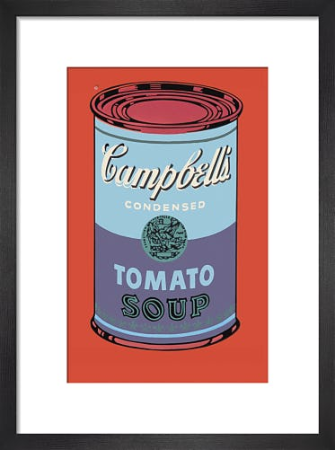 Campbell's Soup Can, 1965 (blue & purple) by Andy Warhol