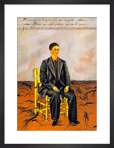 Self-Portrait with Cropped Hair by Frida Kahlo