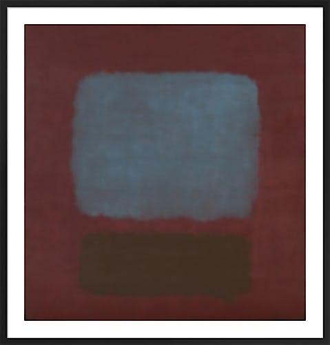 Nº.37 & Nº.19 (Slate Blue and Brown on Plum) by Mark Rothko