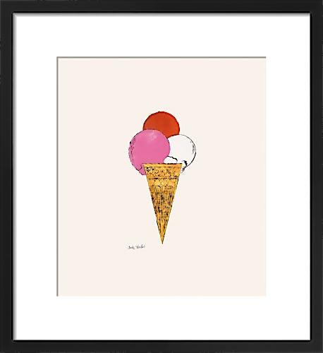 Ice Cream Dessert, c.1959 (red, pink, white) by Andy Warhol