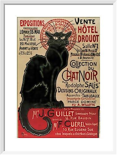 Collection du Chat Noir (small) by Théophile-Alexandre Steinlen