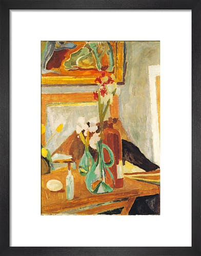 Flowers and Studio, 1915 by Vanessa Bell
