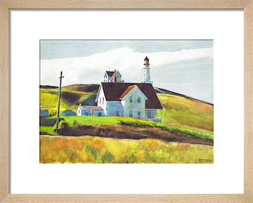 Hill and Houses, Cape Elizabeth, Maine, 1927 by Edward Hopper