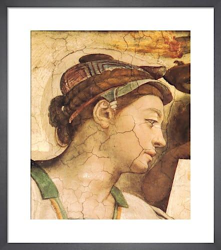 Portrait: Erythrean Sibyl by Michelangelo