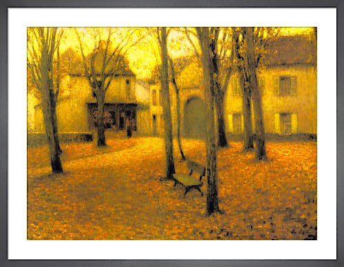 Village in Autumn by Henri Eugene Augustin Le Sidaner