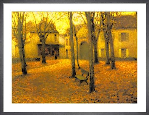 Village in Autumn by Henri Eugene Augustin Le Sidaner
