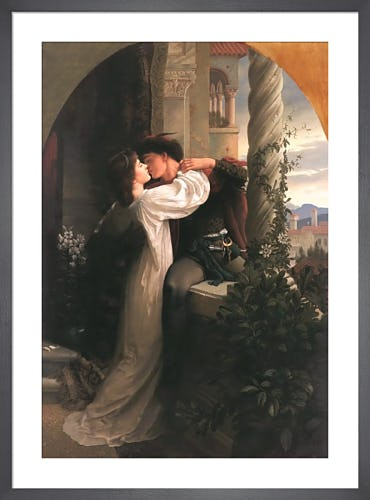 Romeo & Juliet by Sir Frank Dicksee