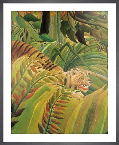 Detail from Suprised! (Tiger in a tropical storm) by Henri Rousseau