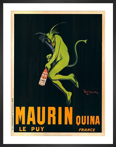 Maurin Quina, 1920 by Leonetto Cappiello