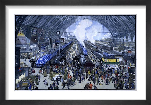 Rail Terminus Scene by The National Archives