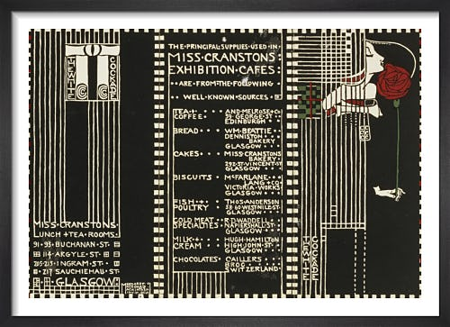 The White Cockade - Illustration for a Menu, 1911 by Margaret Macdonald Mackintosh