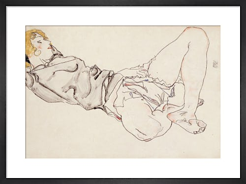 Reclining Woman with Blond Hair, 1912 by Egon Schiele