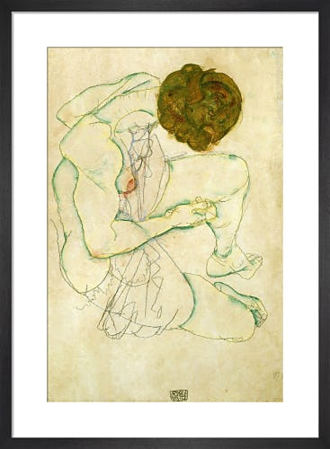 Seated Nude Woman, 1914 by Egon Schiele