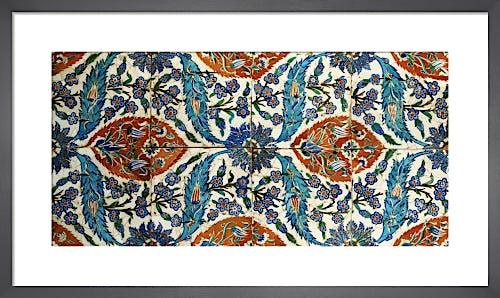 Eight Composite Iznik Polychrome Square Tiles, c.1575 by Anonymous