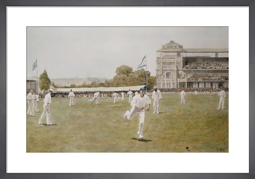 Cricket at Lords, 1896 by Anonymous