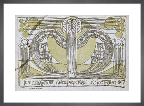 Conversazione Programme designed for the Glasgow Architectural Association, 1894 by Charles Rennie Mackintosh