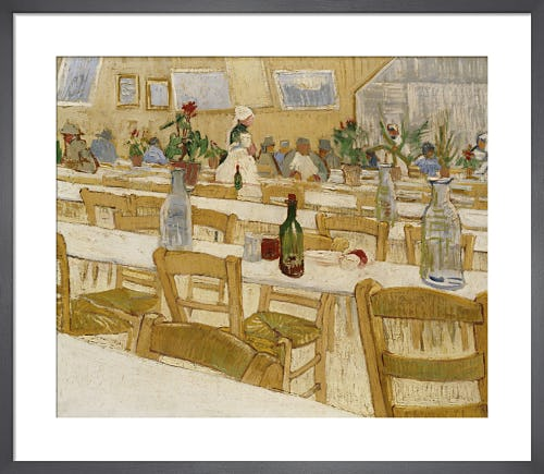 Interior of a Restaurant in Arles 1887 by Vincent Van Gogh