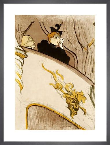 The Box at the Mascaron Dore (Le Loge Au Mascaron Dore), 1894 by Henri de Toulouse-Lautrec