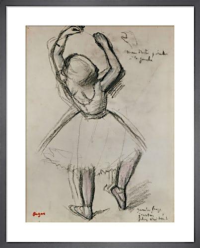 Backview of a Dancer by Edgar Degas
