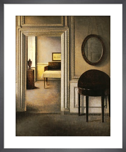 The Music Room, Strandgade 30, 1907 by Vilhelm Hammershoi
