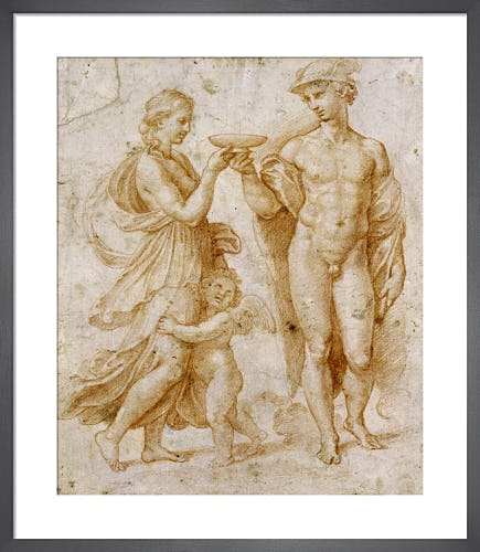 Mercury Handing the Cup by Raphael