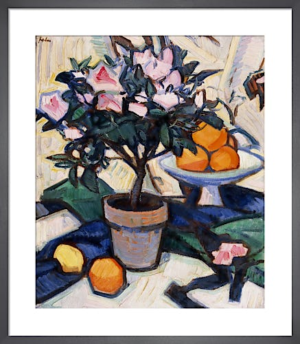 Pink Azalea and Oranges, c.1913 by Samuel John Peploe
