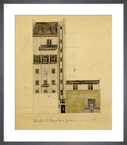 London: Elevation of Proposed Studio in Glebe Place and Upper Cheyne Walk, 1920 by Charles Rennie Mackintosh