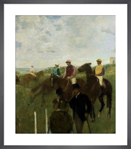 Jockeys at the Racecourse by Edgar Degas