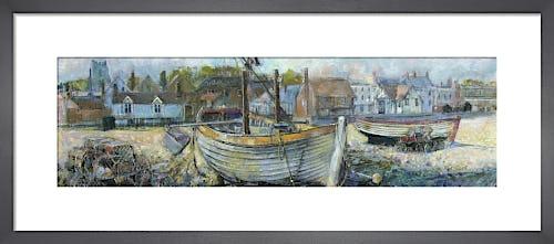 Aldeburgh Beach with Church by Anne Rea