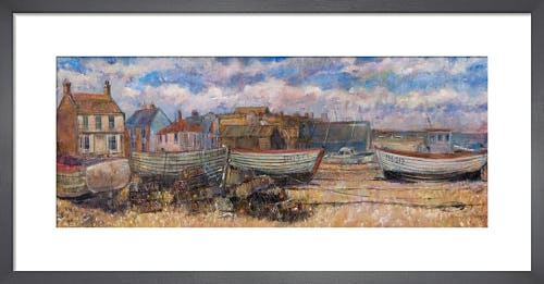 Aldeburgh Fishing Boats & Huts by Anne Rea