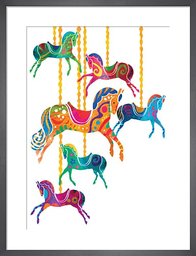 Carousel Horses by Louise Cunningham