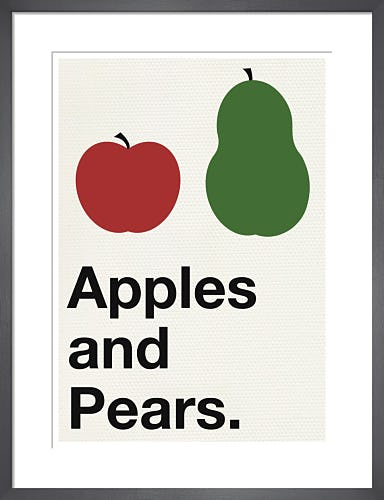 Apples and Pears red and green by Yeah, That