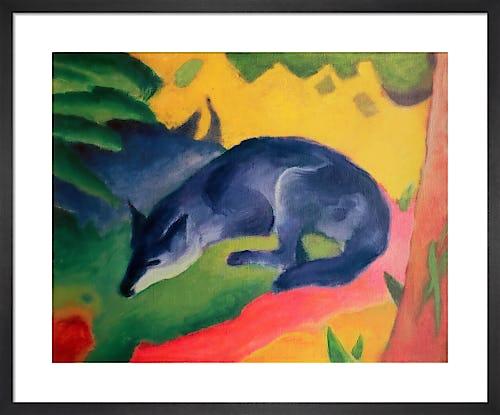 Red Deer Ii Art Print By Franz Marc King Mcgaw