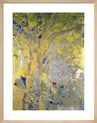 Tree Against a Yellow Background by Odilon Redon